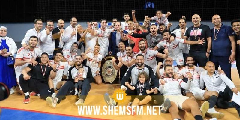 كرة اليد: الزمالك يتوج بالبطولة المصرية ضد الأهلي فريق الجزيري