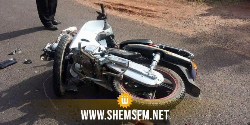 الوسلاتية: اصابة ملازم بجروح خطيرة  في انزلاق دراجة نارية