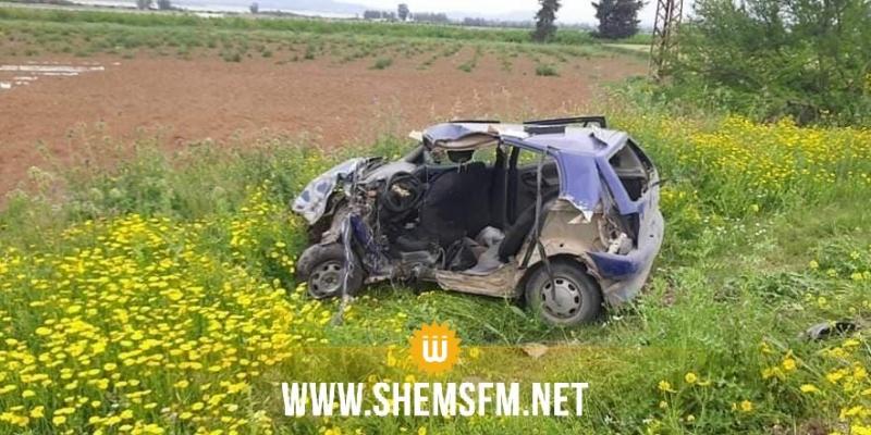 باجة: قتيلان وجريحان في حادث اصطدام سيارة خفيفة بشاحنة ثقيلة