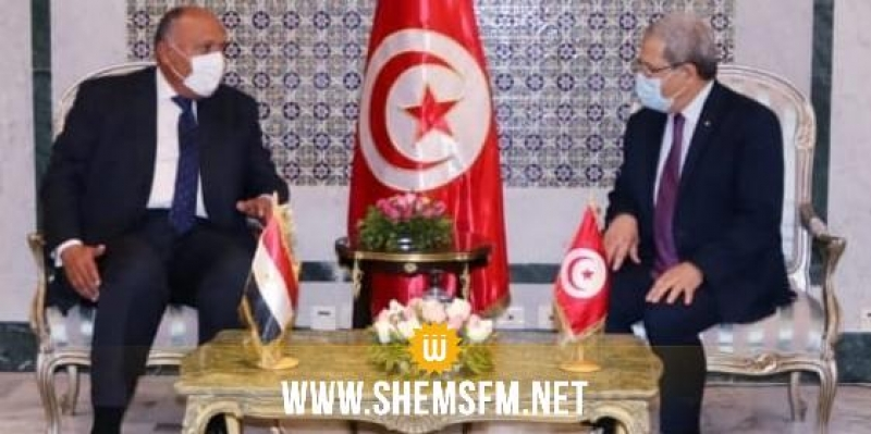 وزير الخارجية يلتقي نظيره المصري