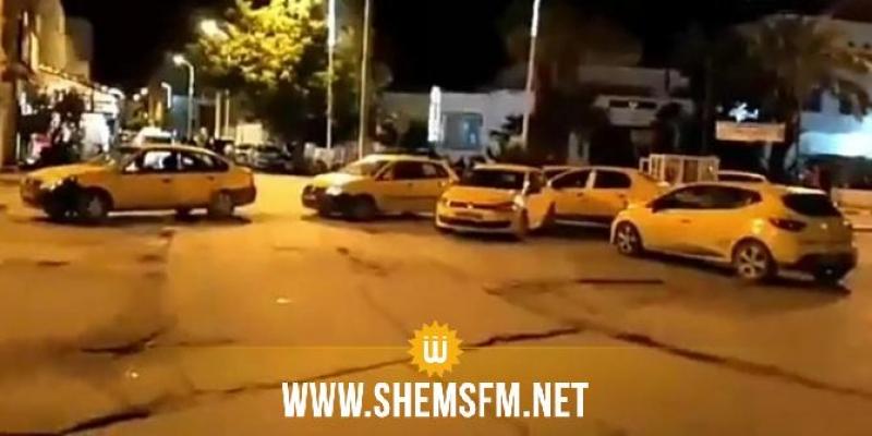 القيروان: احتجاجات ليلية لسواق سيارات التاكسي الفردي