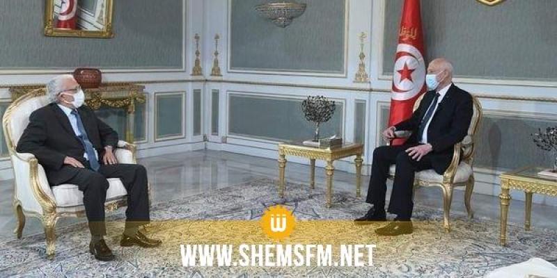 قيس سعيد يلتقي  الأمين العام المساعد رئيس مركز جامعة الدول العربية في تونس