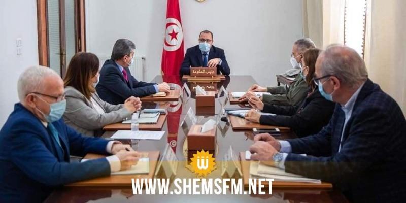 رئيس الحكومة يشرف على اجتماع اللجنة العلمية لمجابهة فيروس كورونا ويؤكد على ضرورة التسريع في وتيرة التلقيح