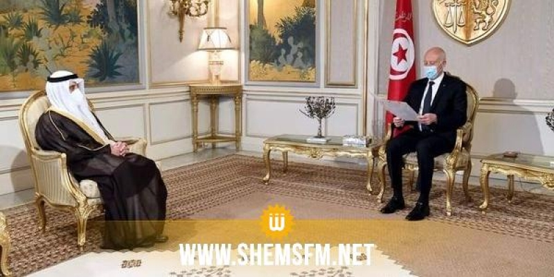 أمير دولة الكويت يدعو قيس سعيد لزيارة بلاده
