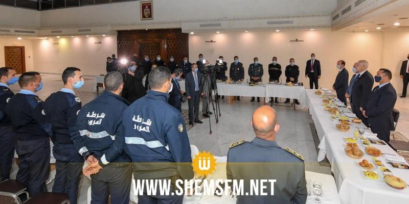 بالصور: قيس سعيد يشارك إطارات و أعوان وزارة الداخلية مأدبة الإفطار