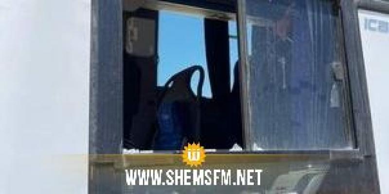 الاعتداء على حافلة الاتحاد المنستيري في المتلوي والحافلة تغادر الى وجهة غير معلومة