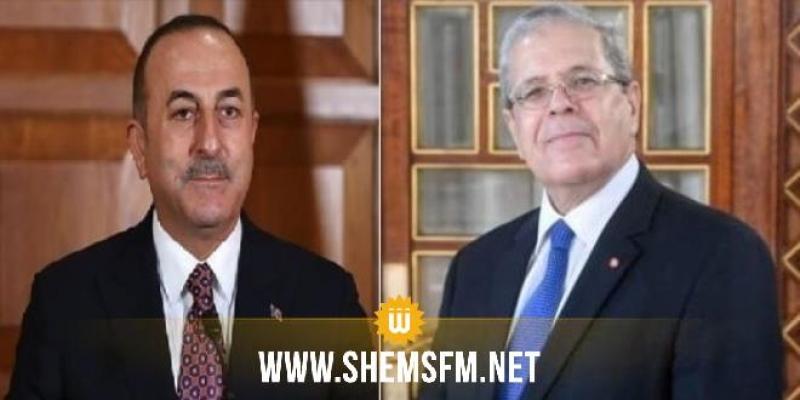 وزيرا خارجية تونس وتركيا يتفقان على توحيد الجهود دوليا وإقليميا لـ'توفير الحماية للفلسطينيين'