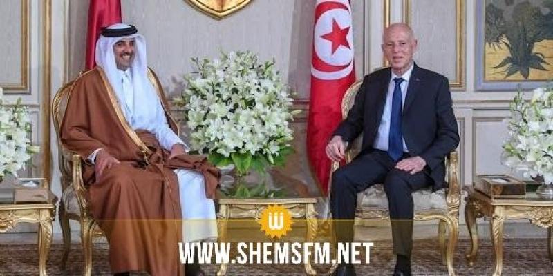 قيس سعيد يتبادل تهاني العيد مع أمير قطر