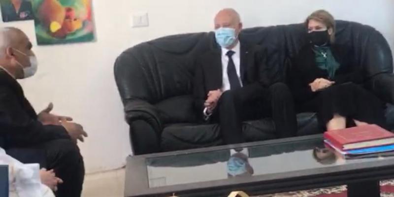 رئيس الجمهورية وحرمه في زيارة قرية الأطفال SOS بقمرت (صور)