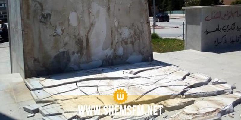جندوبة: تهشيم جزء من النصب التذكاري للشهيد شكري بلعيد