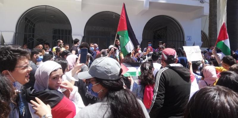 المنستير: المجتمع المدني يندد بالجرائم التي يرتكبها الاحتلال الصهيوني في فلسطين