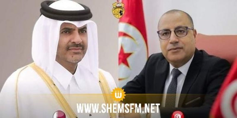 اجتماع اللجنة العليا التونسية القطرية محور مكالمة هاتفية بين المشيشي ورئيس مجلس الوزراء القطري