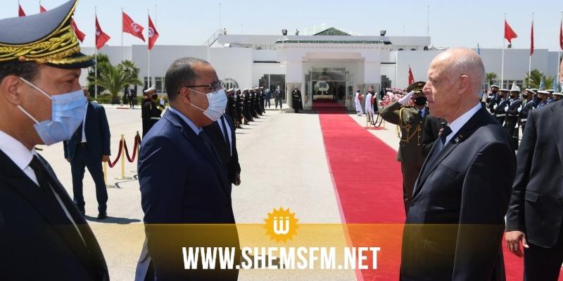 المشيشي كان في توديعه: قيس سعيد يغادر تونس في اتجاه فرنسا