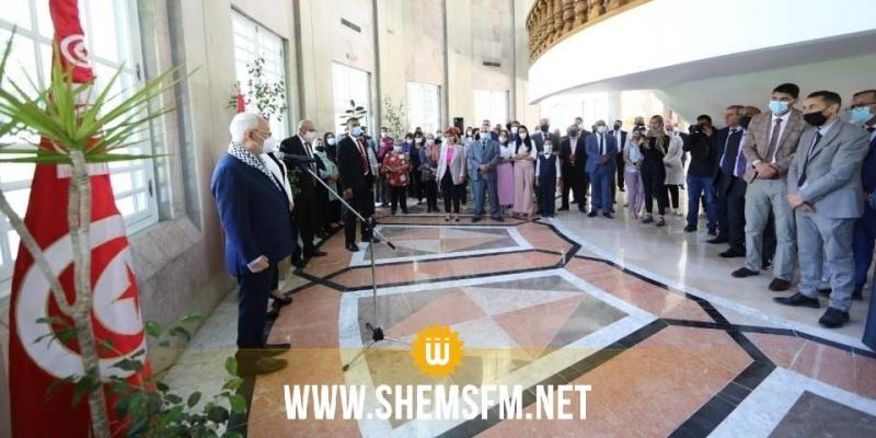 الغنوشي يشرف على لقاء لتقديم تهاني العيد الى موظفي المجلس