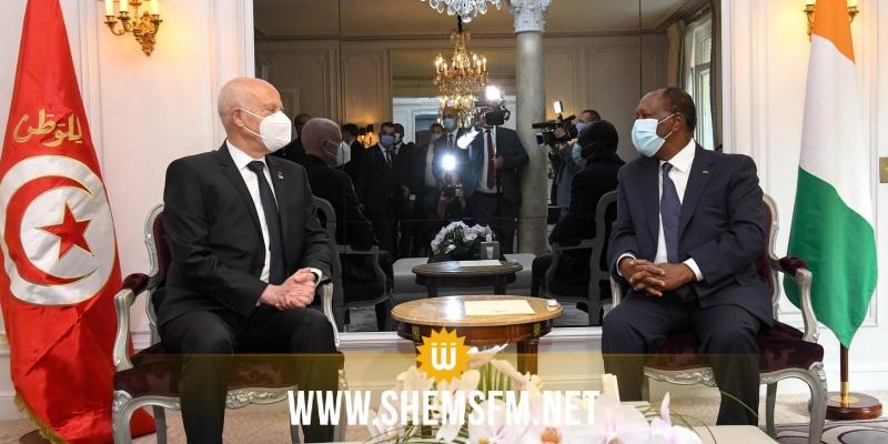 الرئيس الايفواري يعرب عن تطلع بلاده إلى مزيد الاستفادة من التجربة والخبرات التونسية في عدة مجالات