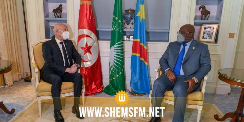 اتفق الرئيسان على عقد لجنة مشتركة بين البلدين: سعيد يدعو رئيس الكونغو لزيارة تونس