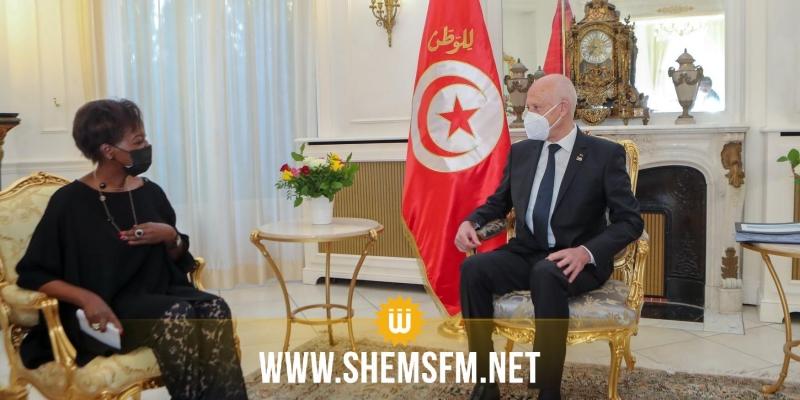 رئيس الدولة يؤكد على التزام تونس بانعقاد القمة الفرنكوفونية في موعدها