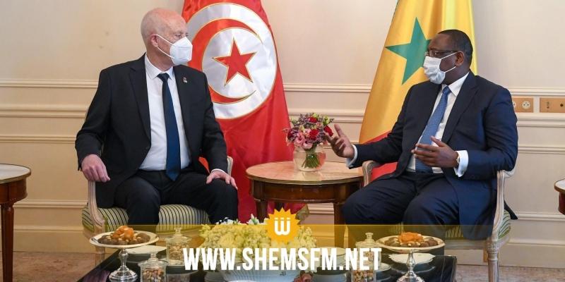 خلال لقائه الرئيس السنغالي: سعيد يدعو إلى التوزيع العادل للقاحات ومعالجة مسألة الديون الإفريقية