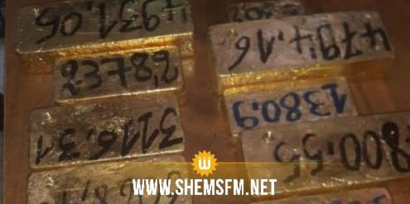 Saisie d'une douzaine de lingots d'or de contrebande d'une valeur de 6,2 millions de dinars