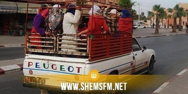 باجة: انزلاق حافلة لنقل العملة وإحالة مجموعة من العاملات إلى المستشفى