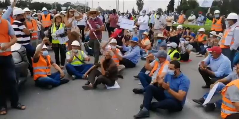 تزامنا مع تواصل إضرابهم: المهندسون ينظمون مسيرة في اتجاه قصر قرطاج