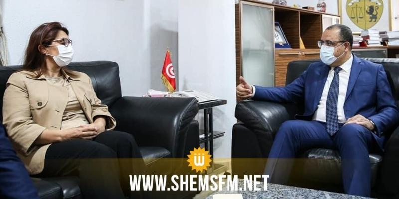 خلال زيارة تضامنية مع وزيرة التعليم العالي: المشيشي  يدعو القضاء لإنصافهم على خلفية ما حدث بالبرلمان
