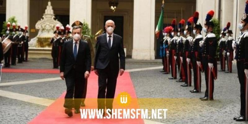 رئيس الوزراء الإيطالي يجدد دعم بلاده لمسار الديمقراطية في تونس ومعاضدتها لها في استقطاب تمويلات دولية لدفع التنمية