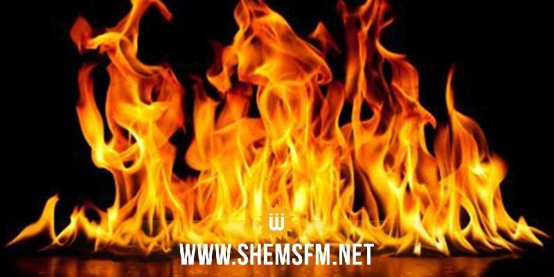 القصرين: حريق في المنطقة العسكرية المغلقة بجبل مغيلة