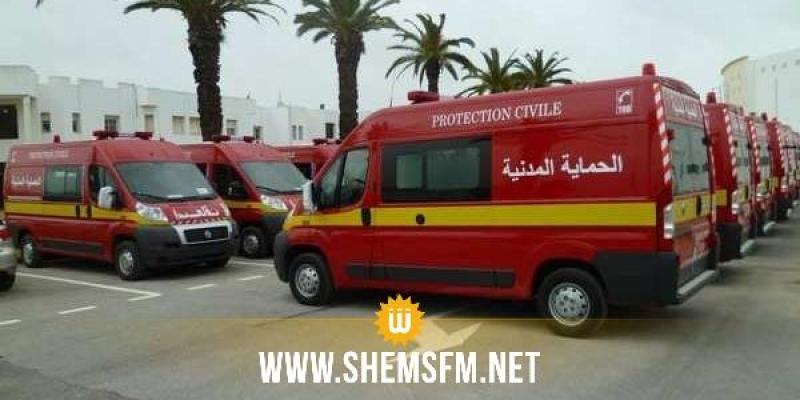 في اليوم الأول للعيد: الحماية المدنية تطفئ 62 حريقا وتُجري 214 تدخلا