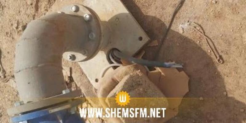 الصوناد : توقف تشغيل البئر العميقة ' قرين5 '  بمعتمدية الشبيكة بسبب عمل اجرامي