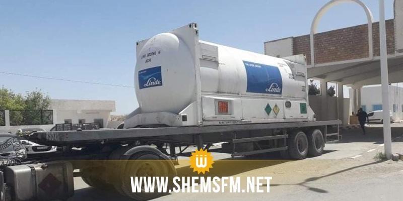 بن قردان : وصول شاحنة من ليبيا محملة بالأكسجين