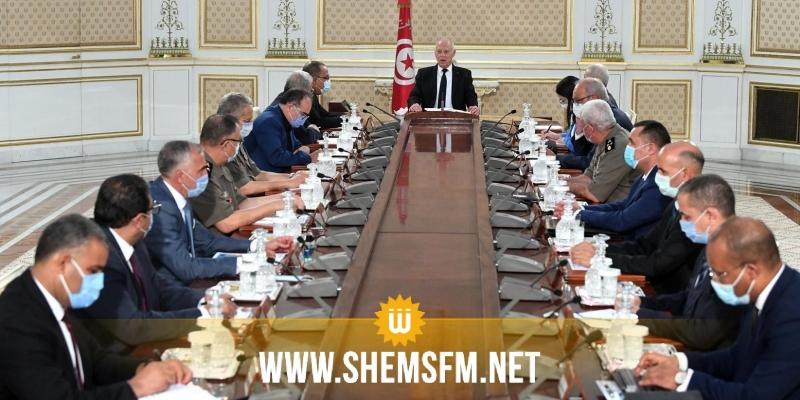 رئيس الجمهورية يشرف على إجتماع طارئ بقصر قرطاج