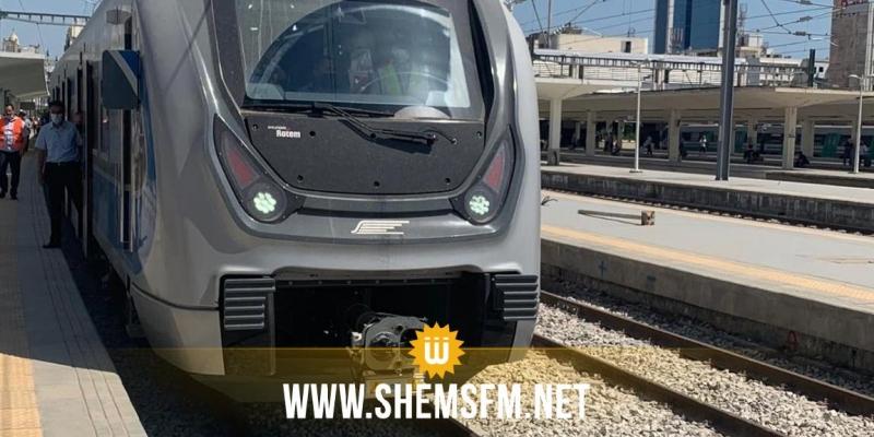 انطلاق أول قطار سريع في تونس على مسار الخط الرابط بين محطتي برشلونة وبوقطفة