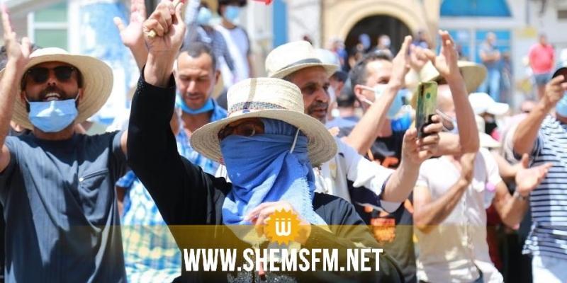 قفصة: تحرك احتجاجي ودعوات لرحيل الحكومة وتغيير النظام السياسي
