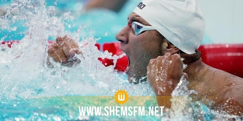 الحفناوي أول سباح في تاريخ الأولمبياد يفوز بذهبية في 400 سباحة حرة من الممر الثامن