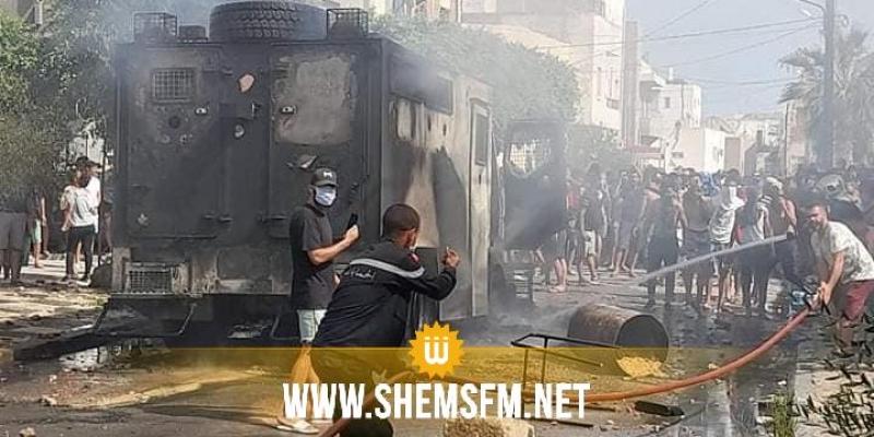 صفاقس: محتجون يحاولون اقتحام مقر النهضة وقوات الأمن حالت دون ذلك