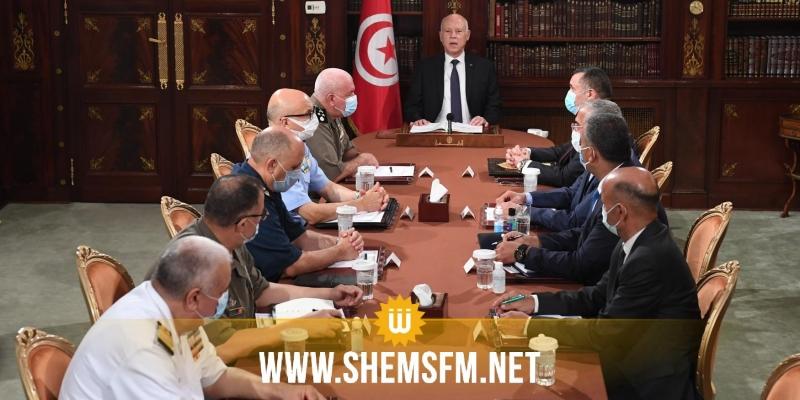 رئيس الجمهورية يترأس اجتماعا طارئا للقيادات العسكرية والأمنية