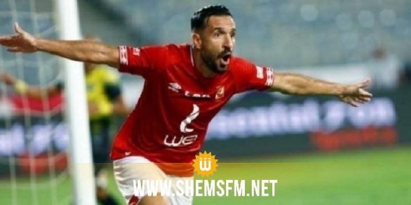 علي معلول هداف في مباراته رقم 100 مع الأهلي المصري