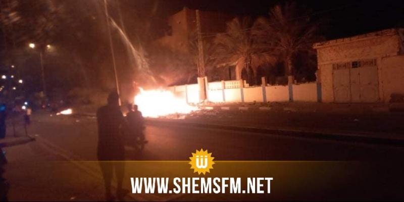 توزر: حرق مقر حزب حركة النهضة بنفطة