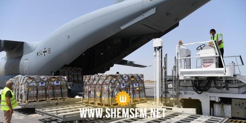 وصول طائرة ألمانية محمّلة بتحاليل سريعة ومعدات طبية