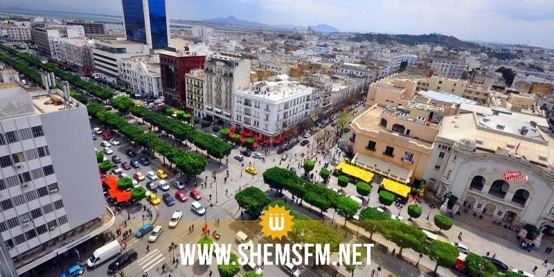 شارع الحبيب بورقيبة: الحركية عادية و المقاهي و المحلات التجارية تستقبل روادها