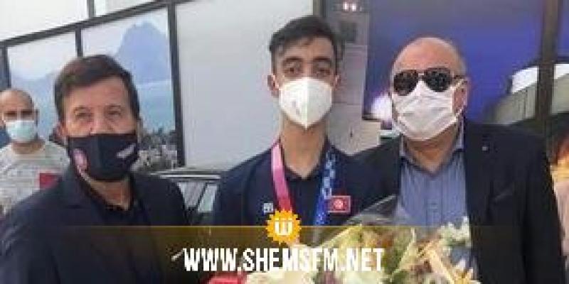 أولمبياد طوكيو : استقبال خليل الجندوبي بعد العودة بالفضية