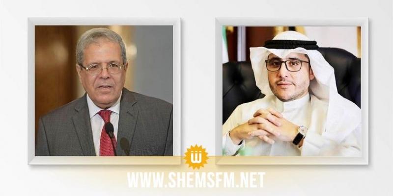 خلال اتصال هاتفي: الجرندي ونظيره الكويتي يستعرضان التطورات في تونس