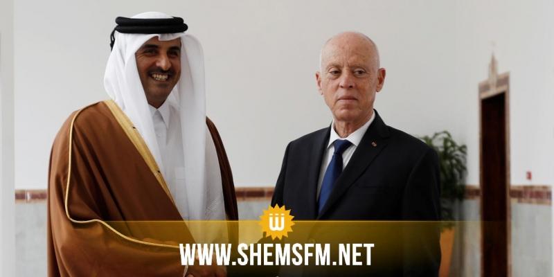 في اتصال هاتفي مع سعيد: أمير قطر يؤكد ضرورة انتهاج الحوار لتجاوزالأزمة وتثبيت دعائم دولة المؤسسات