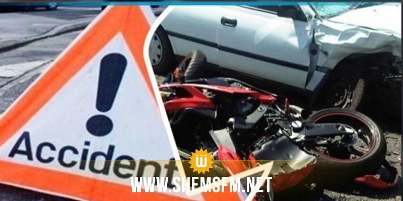 المهدية: وفاة شاب وإصابة آخرين إصابات خطيرة في حادث مرور