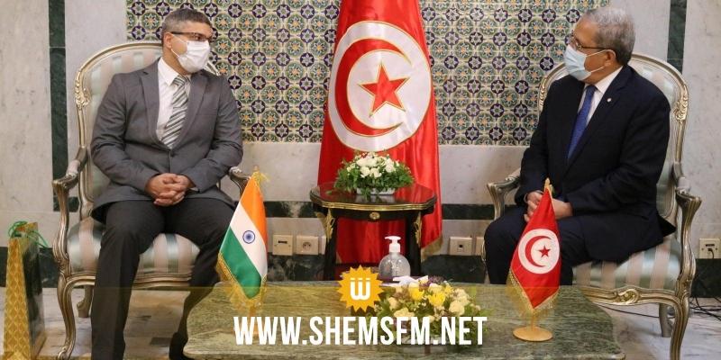 العمل على اكتشاف فرص شراكة جديدة بين البلدين أبرز محاور لقاء الجرندي بسفير الهند بتونس