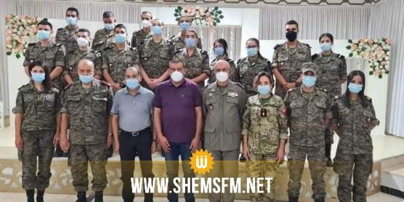 القيروان: إختتام حملة التلقيح المفتوحة للصحة العسكرية إثر تطعيم 12491 مواطن ضد كورونا