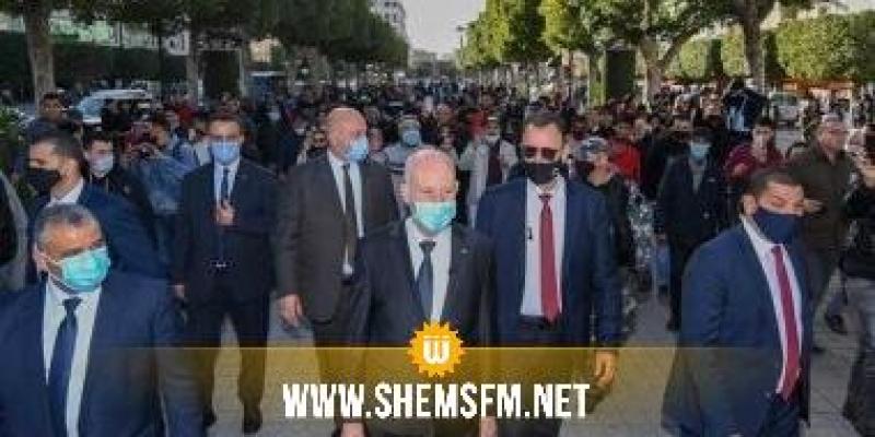 قيس سعيد ينزل لشارع الحبيب بورقيبة
