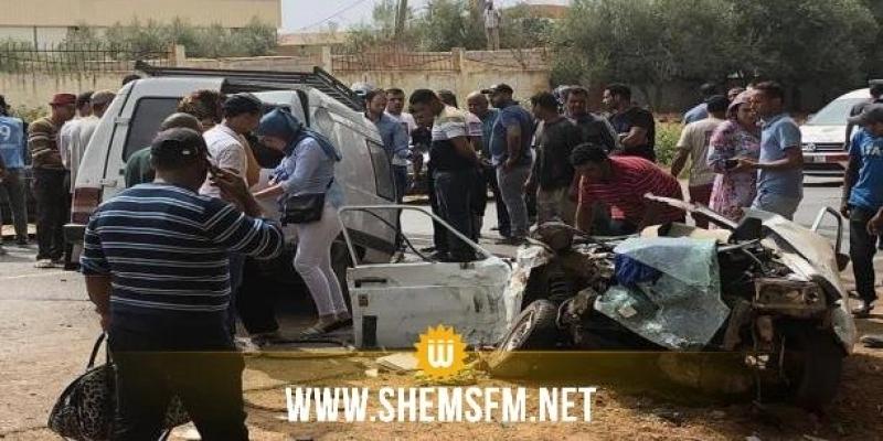 بينهم عاملات فلاحيات: إصابة 15 شخصا في حادث مرور ببنزرت