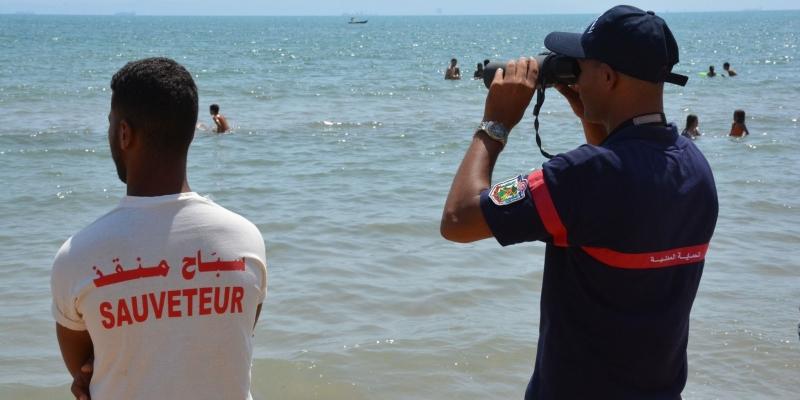 الحماية المدنية تؤكد تسجيل حالة غرق وحيدة في شاطئ راس انجلة وتنفي غرق 20 شخصا